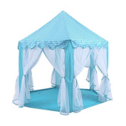 Children Play Tent, Mingshop Castle Kids Play Tent Portable Indoor Outdoor Play House Soft Six Angle Game House Tent Independent large Space Gauze Design for 0-10 Years Old