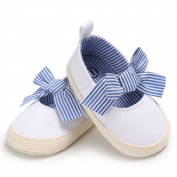Newborn Baby Girls Premium Soft Sole Bowknots Infant Prewalker Anti Slip Boat Shoes