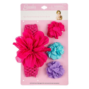 4PC INFANT FLOWER HW & BARETTE