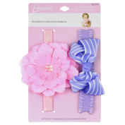 2PC ASST FLOWER/BOW INFANT HEADWRAPS