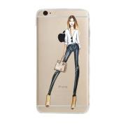 iPhone 7 Plus Case, Txibi Beauty Shopping Girl Design Flexible TPU Slim Phone Case Cover for iPhone 7 Plus 14cm