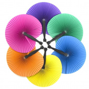 48 ~ Solid Colour Folding Fans ~ 27cm ~ Paper with Plastic Handle ~ New