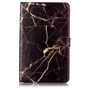 Galaxy Tab A 10.1 Case,DAMONDY Marble Stand Wallet Purse Credit Card ID Holders Design Flip Cover TPU Soft Bumper PU Leather Magnetic for Samsung Galaxy Tab A 10.1 SM-T580 T585 -black gold