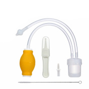 AISme Newborn Baby Safe Soft Nasal Mucus Snot Aspirator Vacuum Suction Nose Cleaner Food grade silicone,Plastic Material