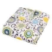Trend Lab Plush Multi Waverly Throw Blanket, Pom Pom Spa
