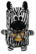 Jack and Friends Cuddly Animal Soft Baby Blanket Zebra