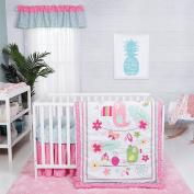 Trend Lab Tropical Tweets 3 Piece Crib Bedding Set, Pink