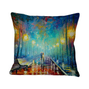 Pillow Covers,Vovotrade Oil Painting Sofa Bed Home Decoration Pillow Case Cushion Cover 45cmx45cm