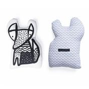 Wee Gallery Nursery Friends Throw Pillows, Organic Cotton Nursery Decor Character Pillow, Fox