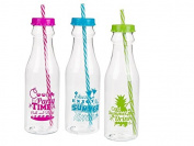 1 x Plastic Sports Bottle With Summer Feeling Design For Approx. 650 ml