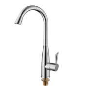 LDONGSH American Style Satin Finish Wash Basin Kitchen Elbow Copper Rotatable Sink Electroplated Faucet