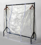 Transparent Clothes Rail Covers For Various Sizes With 2 Zippers (1.8m Long X