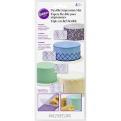 Wilton 4pc Flexible Clear Impression Mats For Sugarpaste Icing Cake Decoration