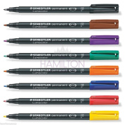 Staedtler Lumocolor Permanent Marker Pens - Fine Tip In Choice Of 8 Colours