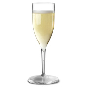 Econ Polystyrene Champagne Flutes 6.5oz / 185ml X 4 | Strong Plastic Glasses