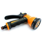 Hozelock Compatible-7 Pattern Metal With Brass Adjustable Spray Gun-water Tube