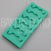 Moustache Silicone Mould Hen Stag Party Themed Cake Fondant Topper Chocolate
