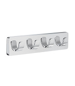 "Smedbo ""Ice"" Quadruple Towel Hook, Silver"