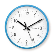 Decowall DSH-M22B Silent Quite Non Ticking Metal Modern Wall Clock for Living Room Bedrooms Office Kitchens