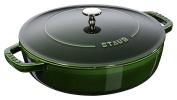 Staub 40511 479/0 Basil with Chistera Cast Iron Oval Casserole, 24 cm