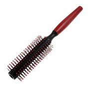 DealMux Plastic Flexible Curly Hair Roll Brush Comb, Red Black, 0kg