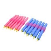 DealMux 12 Pcs Self Adhesive Beauty DIY Curler Makers Soft Foam Bendy Twist Curls Tool Hair Rollers