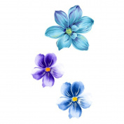 WYUEN 5 Sheets Flower Tattoo Waterproof Temporary Tattoo Sticker For Women Fake Body Art 10.5X6cm P-038