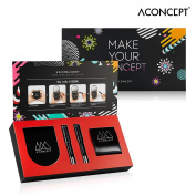 [A:CONCEPT] Make Your Concept Black Kit - Brightening A:Cushion 10g + Refill 10g + Coral Lip & Cheek 1.5g + Red Orange Lipstick 1.5g
