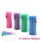THINKSHOW 400PCS Disposable Micro Durable Brushes False Eyelash Extension 4 Colours Applicators Mascara Brush Makeup Tools