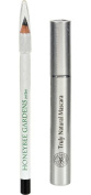 Honeybee Gardens Jet Set Effortless Eye Liner and Black Magic Truly Natural Mascara with Coconut, Saw Palmetto Fruit, Avocado Butter, Olive Fruit Oil and Candelilla Wax, 0ml and 5ml