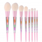 Iuhan 8PCS Makeup Brush Cream Contour Powder Concealer Eyeliner Eyeshadow Brush Set Brush Makeup Tool