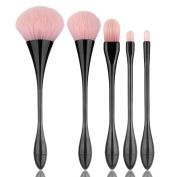 Iuhan 5PCS Make Up Foundation Eyebrow Eyeliner Blush Cosmetic Contour Powder Concealer Brushes