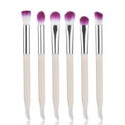 Iuhan 6PCS Makeup Foundation Cosmetic Tool Eyeshadow Eye Cosmetic Cream Contour Powder Blending Brush