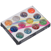 Rumas® 12 Pcs Mix Colours Acrylic Nail Art Decoration for Tips