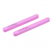 DealMux 2 Pcs Floral Pattern Polisher Double Side Nail File Beauty Tool Pink White