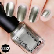 Fabal Flow Gold Mirror Chrome Effect Nail Polish Foil Nails Art Glitter Silver