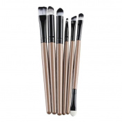 VIASA Professional Make Up Cosmetic Brush Set Kit - For Eye Shadow, Blush, Concealer, Etc. (Black & Gold & Pink)