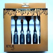 Kylie Oval Makeup Brush Set, Very Soft and Flexible