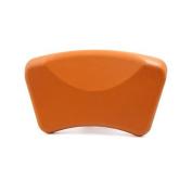 DealMux Orange Waterproof Spa Bath Pillow Cushion Support Head Neck w/ Suction Cups 26cm x 14cm