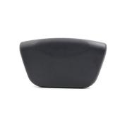 DealMux 26cm x 15cm Anti-slip Luxury Bathtub Tub Spa Bath Pillow Neck Back Support Cushion for Relaxing Dark Grey