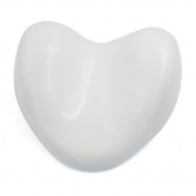 DealMux White Waterproof Heart Shape Soft Spa Bath Pillow Neck Back Support Cushion for Bathtub Hot Tub Jacuzzi