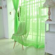 Window Curtain,1 PCS Pure Colour Tulle Door Window Curtain Drape Panel Sheer Scarf Valances