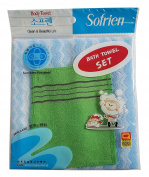 Nylon Korean Beauty Skin Bath Wash Cloth/Towel & Viscos Exfoliating Bath towel Set