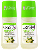 CRYSTAL Vanilla Jasmine Crystal Essence Roll-On (Pack of 2) with Potassium Alum (a Natural Mineral Salt) and Natural Preservatives, Contains No Harmful Chemicals, 70ml