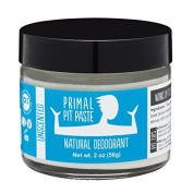 PRIMAL PIT PASTE All Natural Unscented Deodorant | 60ml Jar | NO Aluminium, NO Parabens | Made for Women and Men of All Ages | Non-GMO, Cruelty Free, Earth Friendly, BPA Free