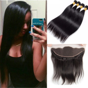UR Meili Brazilian Straight Hair With 13X4 Lace Frontal Closure Natural Colour Human Hair Weave