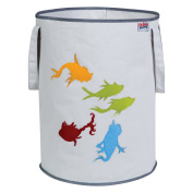 Trend Lab Dr. Seuss Fish Storage Tote, Yellow/Green/Red/Blue/Grey