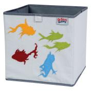 Trend Lab Dr. Seuss Fish Storage Bin, Yellow/Green/Red/Blue/Grey