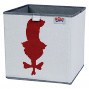 Trend Lab Dr. Seuss Cat in The Hat Storage Bin, Grey/Red