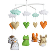 Handmade Nursery Decor Gift, Crib Mobile, [Animals], Colourful Toy